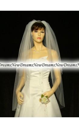 Velo sposa V222-Avorio114 cm
