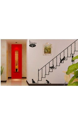 "Wall sticker ""gatti su scala"""