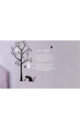Wall sticker  love's secret