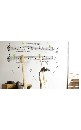 Wall sticker  music