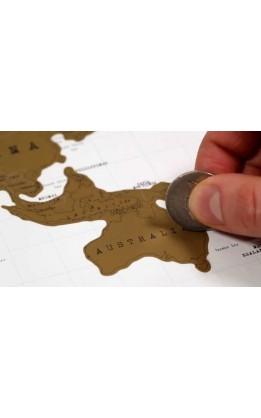 "cartina ""scratch"" diario di viaggio"