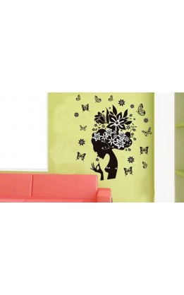 "Wall sticker ""profilo di donna fantasy"""