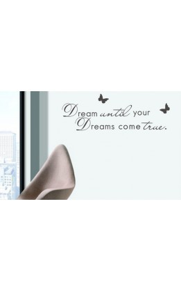 "Wall sticker  "" dream untill..."""