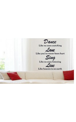 "Wall sticker  "" Dance like no one....."""