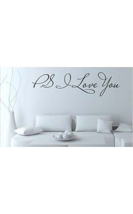 "Wall sticker ""P.S. I love you"""