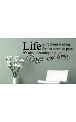 "Wall sticker ""life isn't about..."
