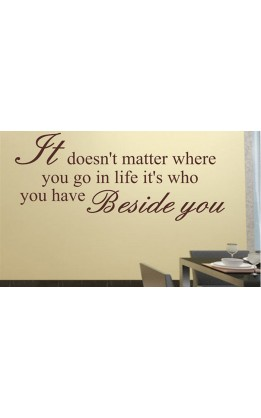"Wall sticker ""It doens,'t matter....."""