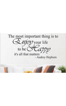 "Wall sticker ""the most important thing........."""