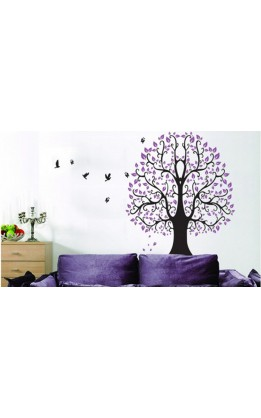 "Wall sticker ""purple tree"""