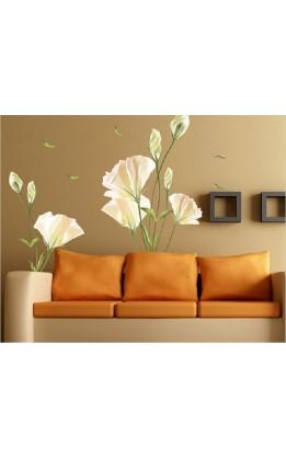 Wall sticker papaveri bianchi