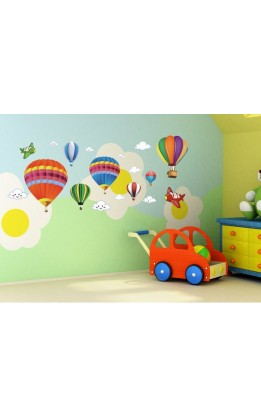 Wall sticker mongolfiere