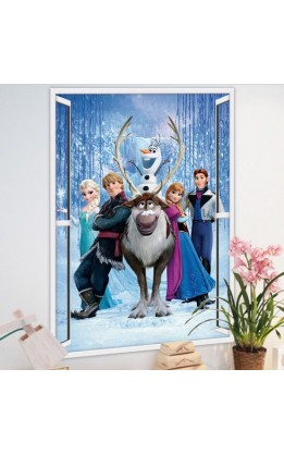 Wall sticker frozen princess