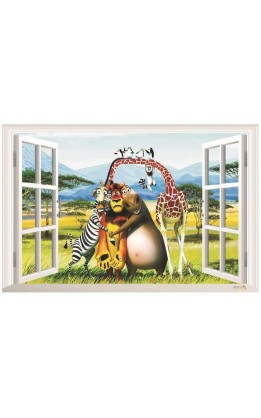 Wall sticker madagascar